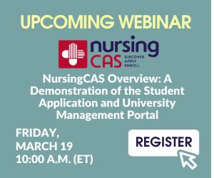 Graphic - Join the Next NursingCas Webinar