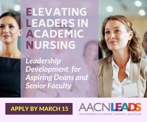 Graphic - Apply Now - AACN's Elevating Leaders in Academic Nursing Program