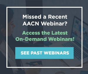 Graphic - Access AACN's On-Demand Webinars