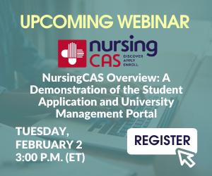 Graphic - Register for the Upcoming NursingCAS webinar!