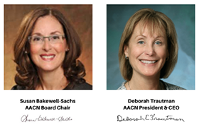 AACN Rounds with Leadership - Susan Bakewell-Sachs and Deborah Trautman