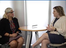 Photo - Dr. Diane Santa Maria with Professor Elda Ramirez from UTHealth at Houston