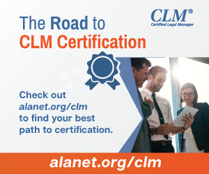 The Road to Becoming a Certified Legal Manager