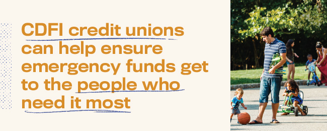 Credit unions are ready to help those who need it most