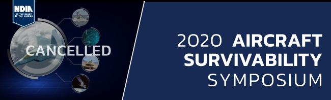 2020 Aircraft Survivability Symposium