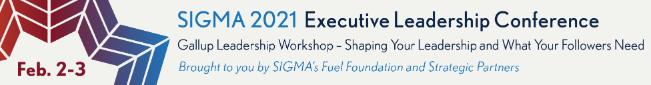 2021 SIGMA Executive Leadership Conference Gallup Workshop